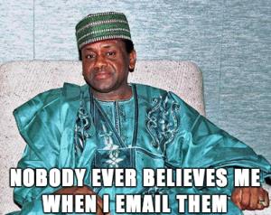 Nadie me cree cuando les mando un email